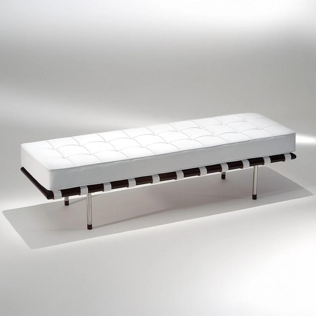 Banco Capri Estofado Estrutura Madeira e Aço Inox Design by Studio Mais