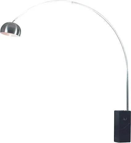 Luminária De Piso Mármore Aço Inox