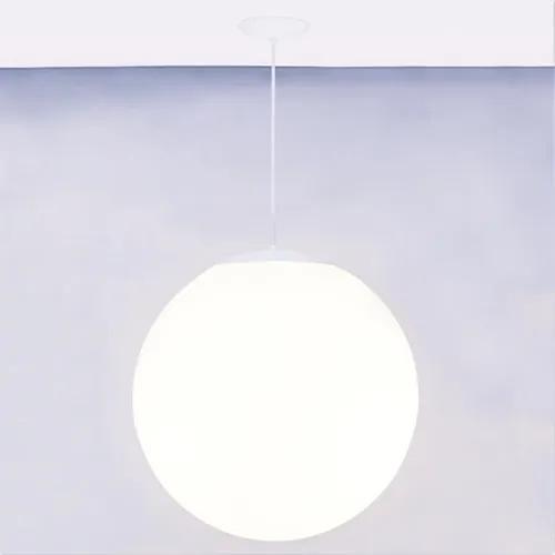Pendente Polietileno E Alumínio Branco Ø40cm Soleil