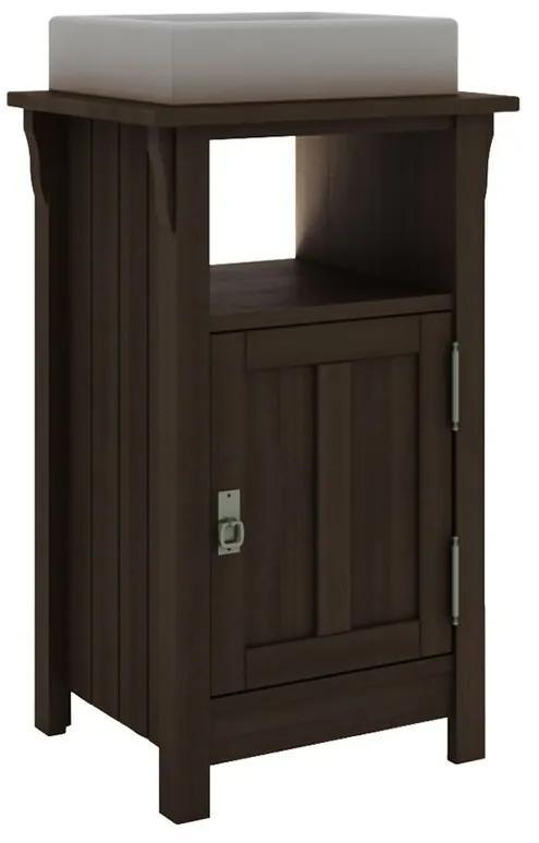 Balcão para Banheiro Mission com Porta e Nicho Nogueira (Cuba não acompanha o produto) - Wood Prime MR 34670