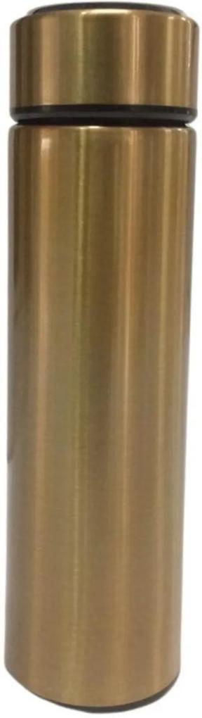 Garrafa Térmica Gold Com Termômetro 480 ml - MADALOZZO