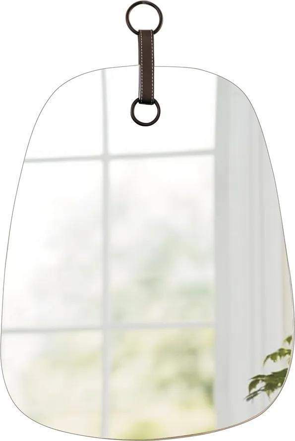 Espelho BENITO com detalhe em couro 42cm Ilunato VK0001