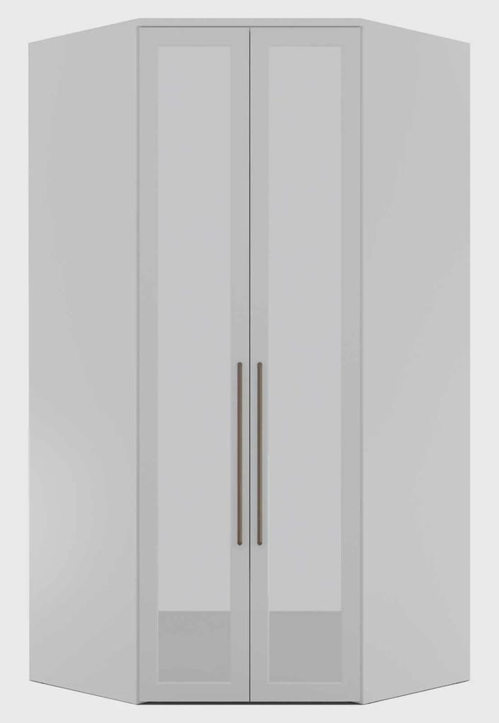 Guarda Roupa Elite Canto Closet C/ Espelho Branco Robel
