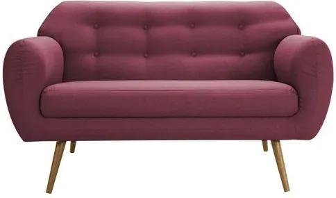 Sofa Liverpool Vinho Base Palito Castanho 2 Lugares - 50257 Sun House