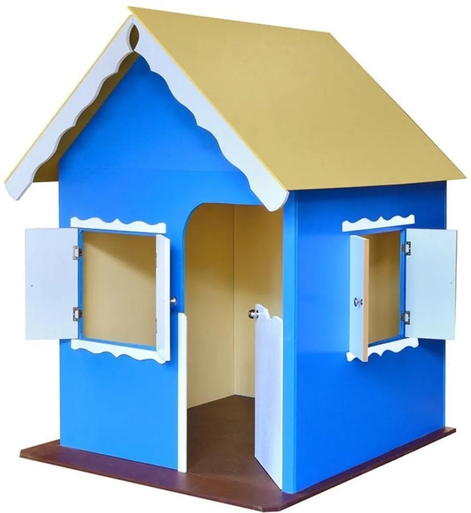 Casinha de Brinquedo Criança Feliz com Pés Azul