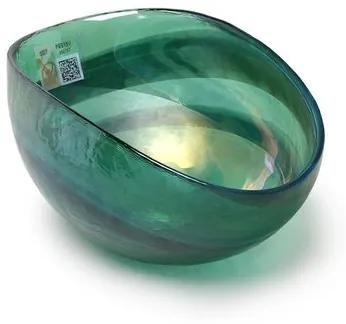 Bowl de Murano Verde Espiral Yalos