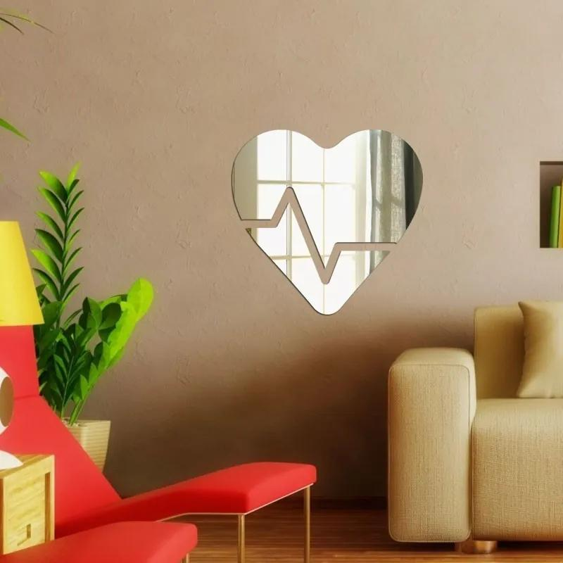 Espelho Decorativo Coração Beats