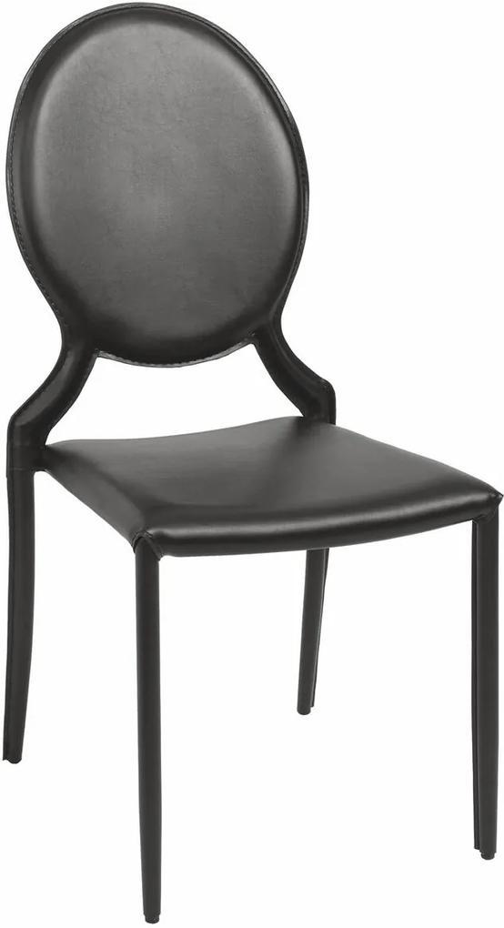 Cadeira Elisa Medalhão sem Braço Preta