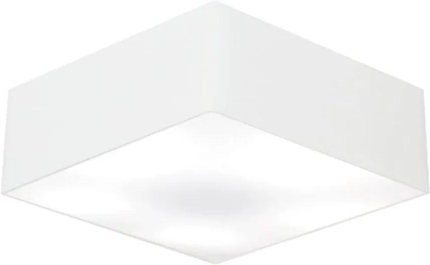 Plafon Quadrado Md-3060 Cúpula em Tecido 21/80x80cm Branco - Bivolt