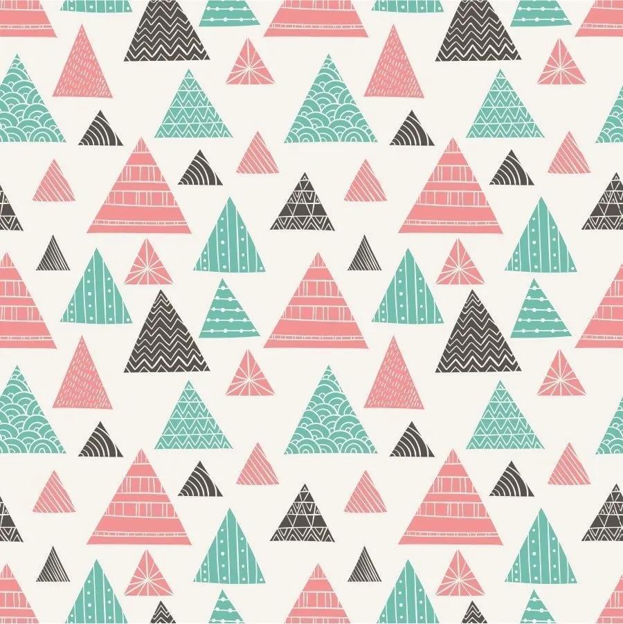 Papel De Parede Adesivo Triângulos Abstratos (0,58m x 2,50m)