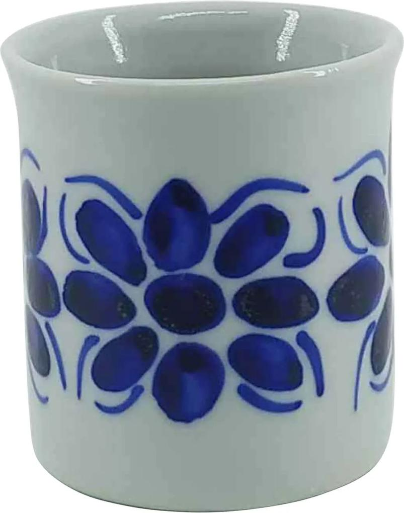 Copo de Porcelana Azul Colonial 120 ml