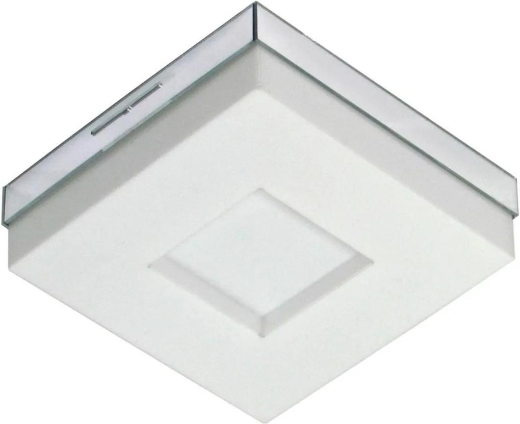 Arandela Plafon Acrilico Branco Asturias Led 9w 18x18cm