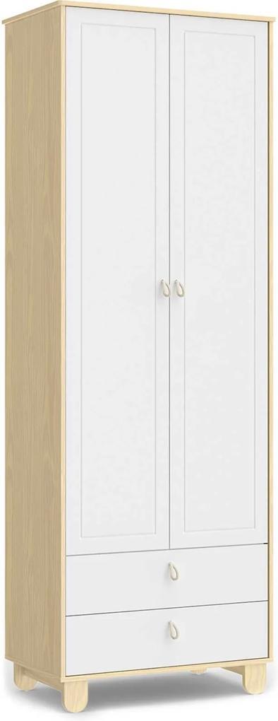 Roupeiro Rope 2 portas Natural / Branco Soft Mátic Móveis