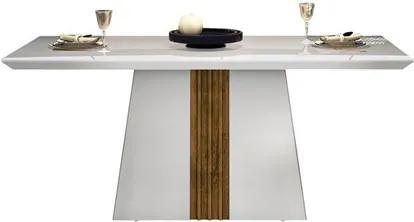 Mesa para Sala de Jantar Itália 170cm Branco/Demolição - DJ Móveis