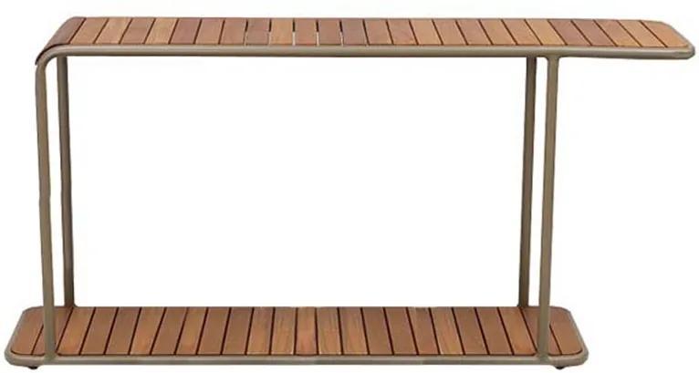 Aparador Patio Área Externa Tampo Deck Cumaru Estrutura Alumínio Eco Friendly Design Scaburi