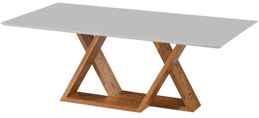 Mesa de Jantar com Vidro Dominica Carvalho Mel - US 46158 1.60 x 0.90