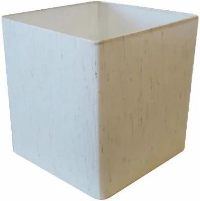 Cúpula em Tecido Quadrada Abajur Luminária Cp-25/25x25cm Linho Bege