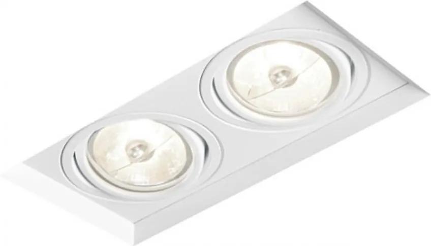 Plafon Embutir Aluminio Branco No Frame Ii 19,8cm