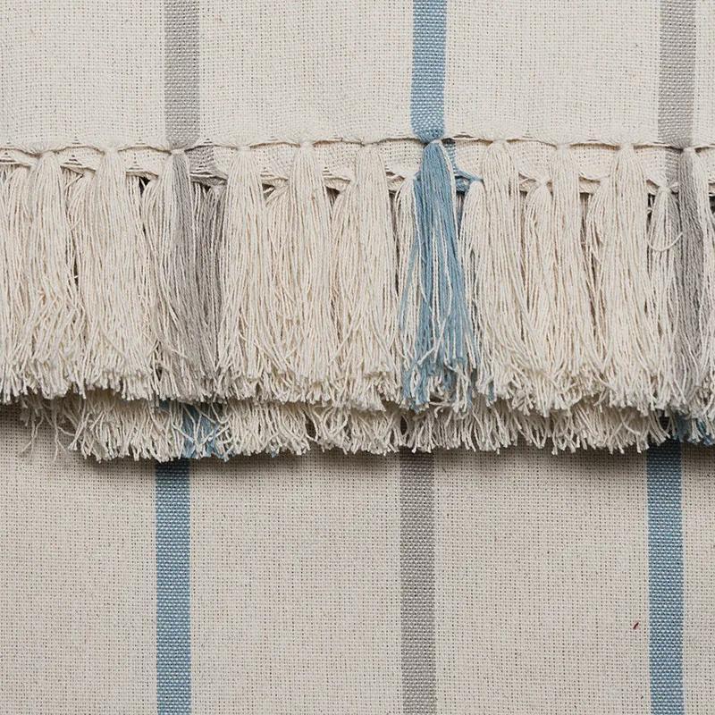 Manta para Sofá Romantic Listras de 1,40 x 1,40 m Azul Romantico