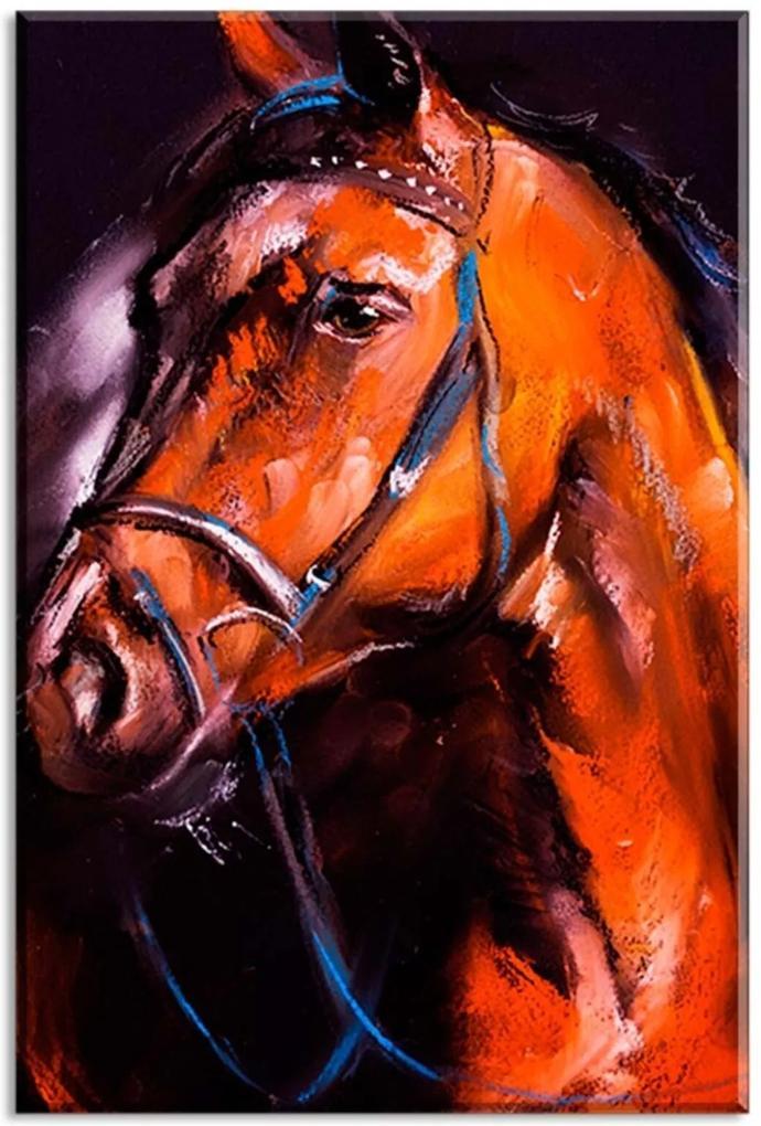 Tela Decorativa Abstrato Pintura Cavalo Médio Love Decor