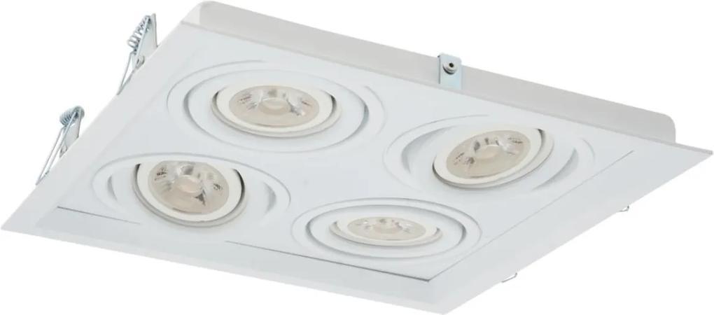 Plafon Embutir Aluminio Branco 24,1cm Recuado Ii