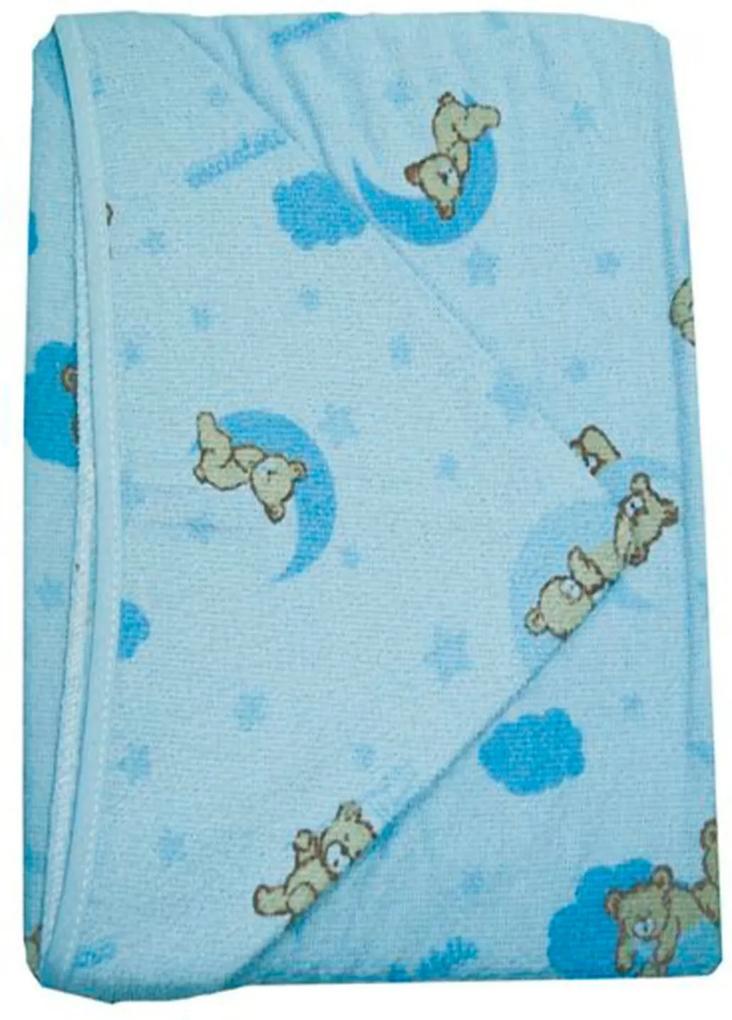 Toalha Fralda Caricia Baby Azul