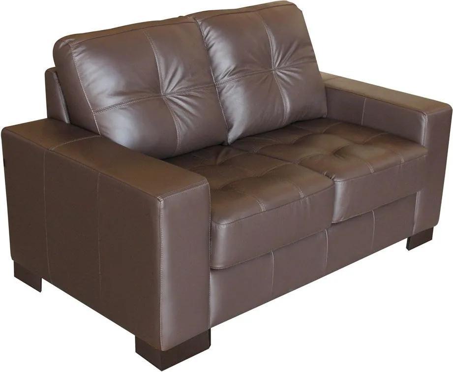 Sofá 2 Lugares Sala de Estar 150cm Milão Couro Chocolate - Gran Belo