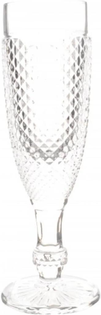 Taças Champagne Transparente Bico De Jaca 6 Peças