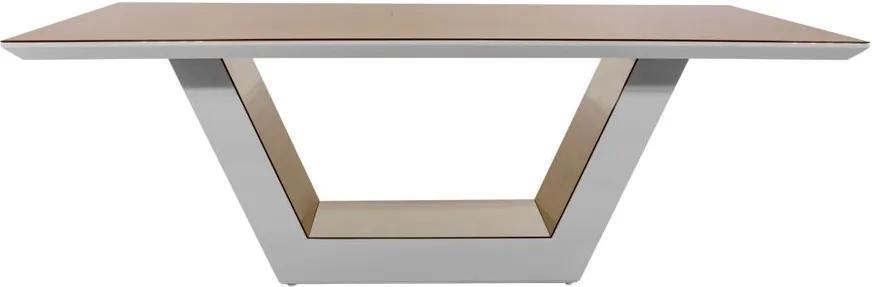 TEMPORARIAMENTE INATIVO Mesa de Jantar Premium Lilie com Espelho - Wood Prime DS 27947 0.76 x 1.60 x 1.00