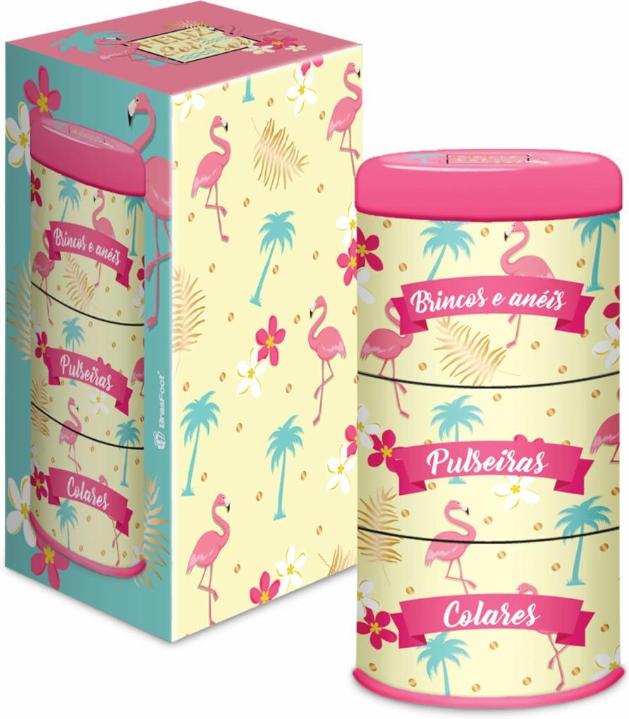 Lata porta-joias - flamingo