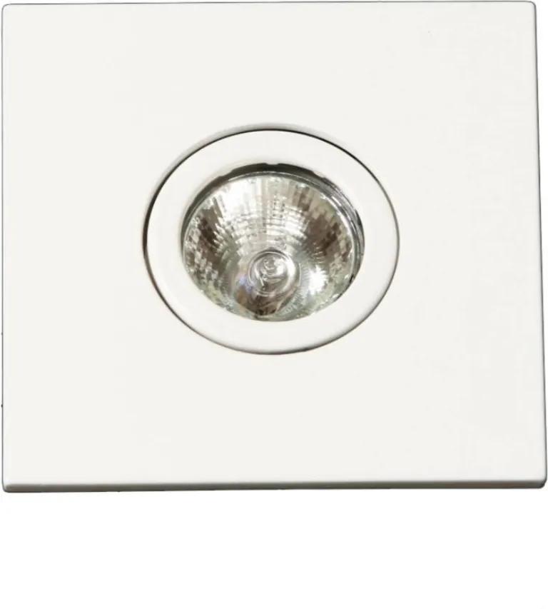 Plafon Embutir Quadrado Aluminio Branco Face Plana Facetado