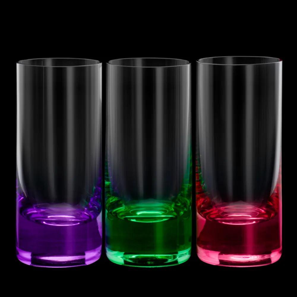 Conjunto 6 Copos de Cristal Ecológico Para Shot Set-Bar 65ml – Linha Favorit Coloridos
