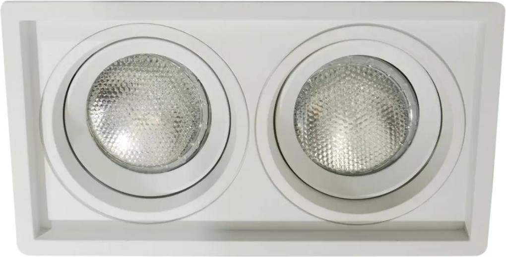 Plafon Embutir Duplo Aluminio Branco Recuado