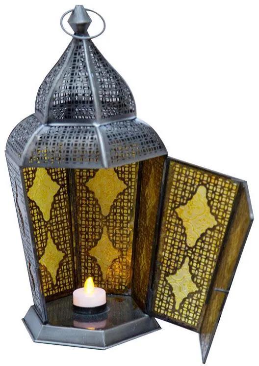 Lanterna Indiana Samsara Âmbar 43cm