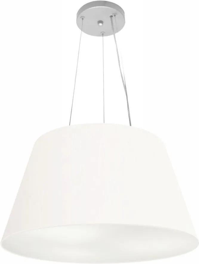 Lustre Pendente Cone Md-4141 Cúpula em Tecido 30/50x35cm Branco - Bivolt
