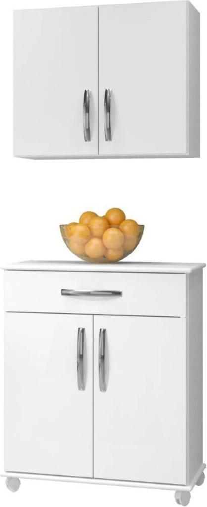 Cozinha Conjugada 2 Peças Londrina Arte Móveis Branco