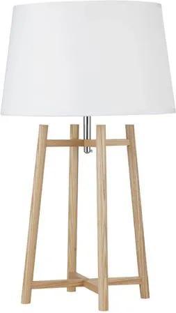 Luminaria de Mesa Charmant cor Branca/Madeira Natural 61 cm (ALT) - 44020 Sun House
