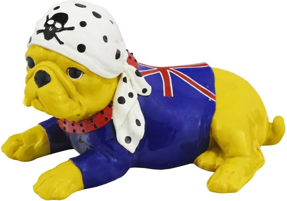 Escultura Em Resina Bulldog Tigger