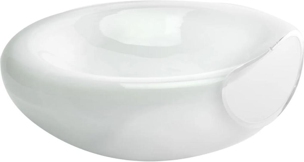 Saladeira Bianco & Nero De Vidro Branca 13 X 30 Branco