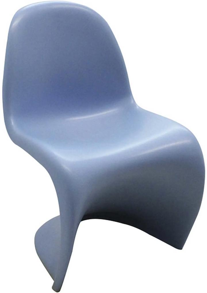 Cadeira Panton Infantil Azul Rivatti Móveis