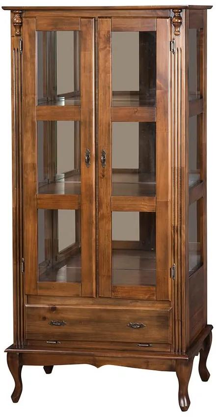 Vitrine 2 Portas com Gaveta Basculante e Espelho - Wood Prime MY 907348