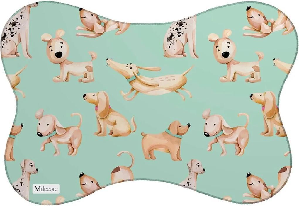 Tapete PET Mdecore Cachorros Verde 46x33cm