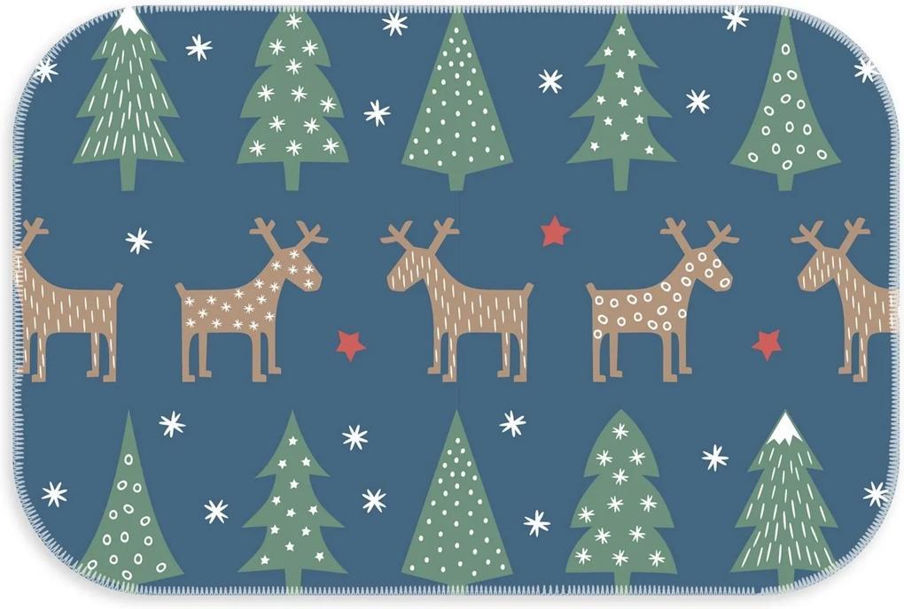 Tapete Love Decor Decorativo Pinheiro de Natal Azul