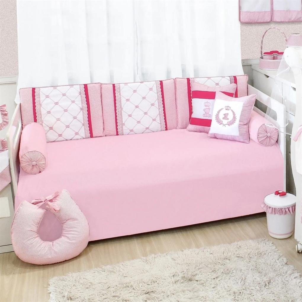 Kit Cama Babá Padroeira Baby Clássico Rosa