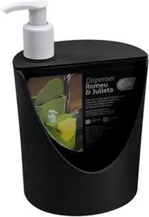 Dispenser Romeu & Julieta Preto 600ml 10837/0008 - Coza - Coza