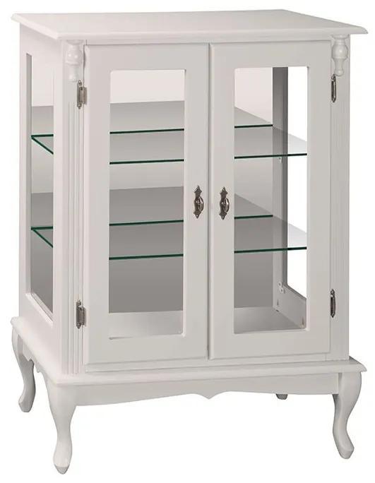 Vitrine Média com Prateleiras de Vidro e Espelho  - Wood Prime MY 907280