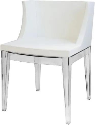 Poltrona Mademoiselle Transparente Branco - 14868 Sun House