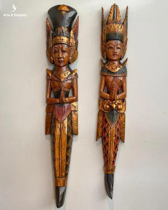 Rama e Sita em Madeira 100cm   Bali