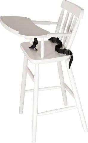 Cadeirao INFANTIL em Madeira cor Branco Fosco 93 cm (ALT) - 50381 Sun House