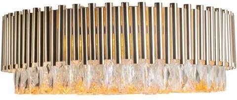 Plafon Sobrepor Dourado Metal Cristal